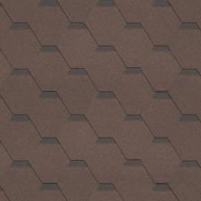 Битумная черепица Shinglas Кадриль Соната коричневый